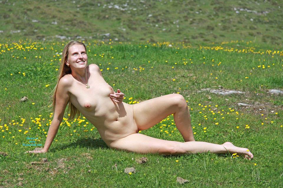 Bri On Alpine Pasture - Nude In Public, Shaved , Last Month We Spent Some Days In Austria. The Weather Was Great! So We Decided To Go For A Walk On Alpine Pastures - Of Course Bri Was In The Mood To Show Her Body To God's Creation ... And We Also Want To Let You Participate In This Adventure!