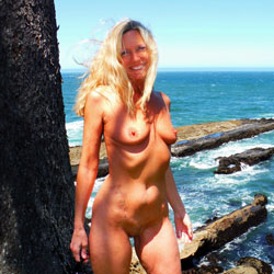 Rosa - Revels On The Coast - Big Tits, Blonde Hair, Nude In Public, Shaved