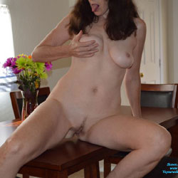 Table Top Action - Big Tits, Brunette