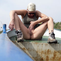 Hike And Flash - Blonde, Wife/Wives, Mature