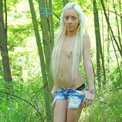 Michelle In The Forest - Blonde Hair, Nude In Public, Small Tits