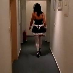 Naughty French Maid - Brunette, Costume, Masturbation, Toys
