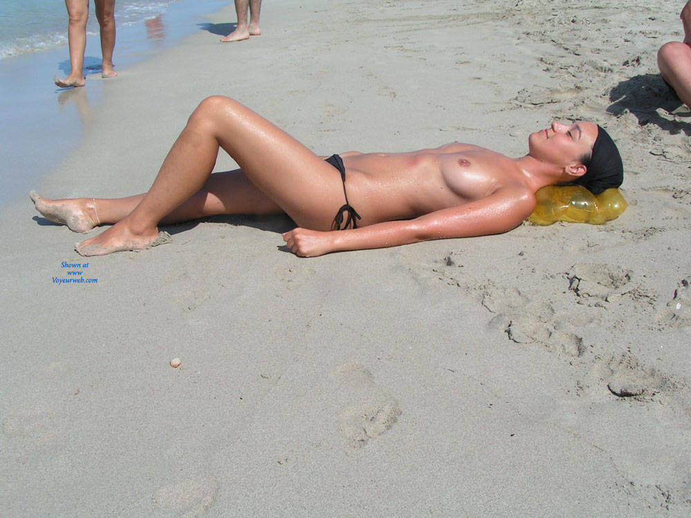 Pic #1 At The Beach - Beach, Big Tits, Brunette