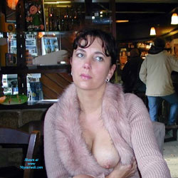 A la Tienne - Flashing, Public Exhibitionist, Public Place, Brunette