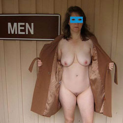 Shy Sub Wife's First Time Totally Exposed In Public - Big Tits, Brunette, Public Exhibitionist, Public Place, Shaved, Wife/Wives