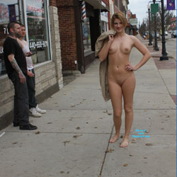 Monnie NIP Again - Even More Daring - Big Tits, Flashing, Public Exhibitionist, Public Place