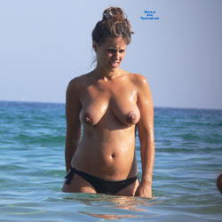 Topless Brunette Enjoying The Beach Water - Big Tits, Bikini, Brunette Hair, Exposed In Public, Firm Tits, Hanging Tits, Huge Tits, Large Breasts, Nude Beach, Nude In Nature, Nude Outdoors, Perfect Tits, Showing Tits, Small Tits, Topless Beach, Topless Girl, Topless Outdoors, Topless, Water, Wet, Beach Tits, Hot Girl, Sexy Body, Sexy Boobs, Sexy Face, Sexy Figure, Sexy Girl, Sexy Legs