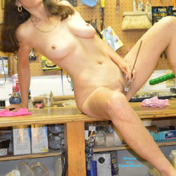 Masturbating In The Hardware Store - Big Tits, Brunette Hair, Erect Nipples, Full Nude, Hard Nipple, Huge Tits, Indoors, Masturbation, Nipples, Perfect Tits, Showing Tits, Spread Legs, Trimmed Pussy, Hot Girl, Naked Girl, Sexy Body, Sexy Boobs, Sexy Face, Sexy Feet, Sexy Figure, Sexy Girl, Sexy Legs, Sexy Woman