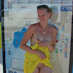 Bri - Sightseeing On Mallorca - Big Tits, Blonde, Flashing, Public Exhibitionist, Public Place