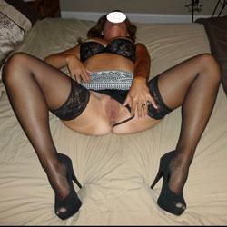 Black And White Skirt Fun - Hard Nipples, Latina, Toys