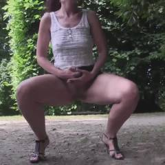 Lena Masturbation Adventure - Big Tits, Brunette, Masturbation, Public Exhibitionist, Public Place, Toys