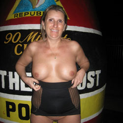 Alex In Key West - Big Tits, Flashing, Public Exhibitionist, Public Place