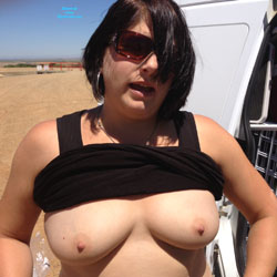 Car Fun - Big Tits, Brunette