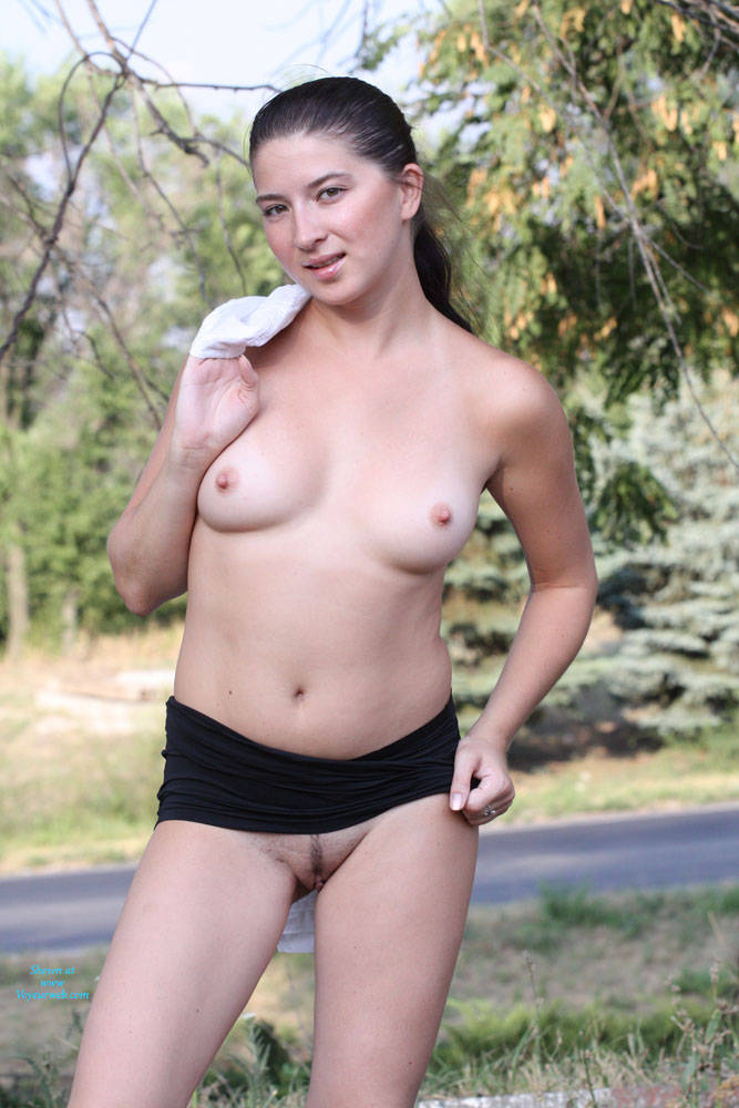 Kiki Walks - Big Tits, Brunette Hair, Exposed In Public, Flashing, Nude In Public , Hallo My Friends! Me & Sun = Great Combo For New Photoset :) I Hope You Like It!!! Kisses, Kiki