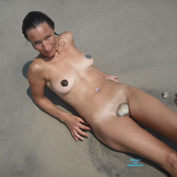 Beach Nudes - Brunette Hair, Beach Voyeur