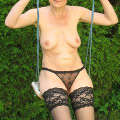 Medium tits of a neighbor - Martina