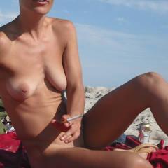 Medium tits of a neighbor - fred