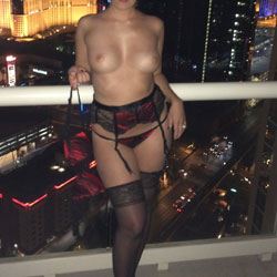 Vegas Balcony - Big Tits, Lingerie, Wife/Wives