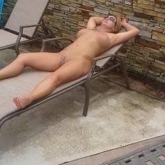 Girlfriend Sunbathing - Big Tits, GF
