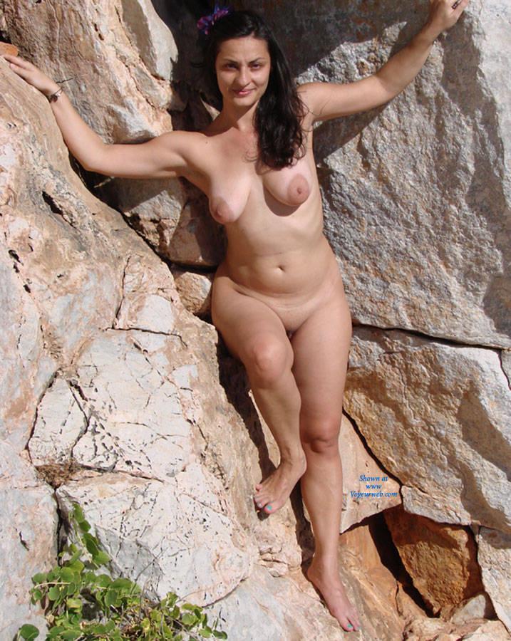 Pic #1 - Me At A Naturist Shot - Big Tits, Brunette Hair, Beach Voyeur , I Was Photographed For A Naturist Shot