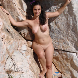 Me At A Naturist Shot - Big Tits, Brunette Hair, Beach Voyeur