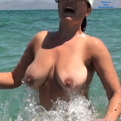 Wife On The Beach - Beach, Big Tits, Shaved, Wife/Wives