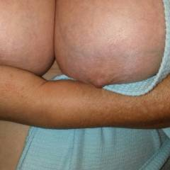 Large tits of a co-worker - Brenda
