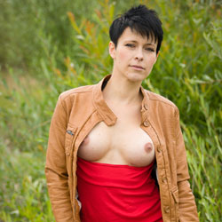 Yummy Tits In Outdoor - Big Tits, Brunette Hair, Erect Nipples, Exposed In Public, Firm Tits, Flashing Tits, Flashing, Hard Nipple, Nipples, Nude In Nature, Perfect Tits, Short Hair, Showing Tits, Sexy Boobs, Dressed