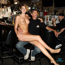 Monnie Visits The Local Tavern - Big Tits, Exposed In Public, Nude In Public