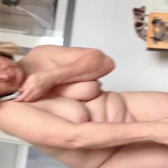 Big Ansas Mob Whilst Dressing - Blonde, Big Tits, Lingerie