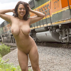 Train Flashing - Big Tits, Exposed In Public, Flashing, Shaved