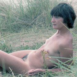 Hiding In The Dunes - Beach, Brunette, Small Tits