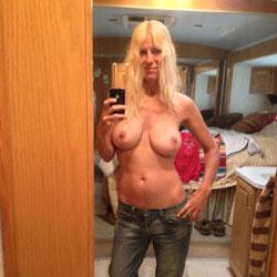 My Man's Away - Big Tits, Blonde