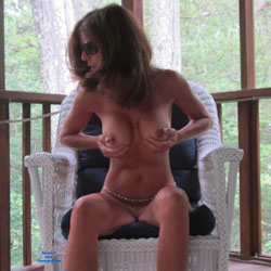 Squeezing Tits At The Balcony - Big Tits, Brunette Hair, Full Nude, Hanging Tits, Huge Tits, Indoors, Large Breasts, Showing Tits, Sunglasses, Sexy Body, Sexy Boobs, Sexy Face, Sexy Feet, Sexy Girl, Sexy Legs, Sexy Woman , Sexy, Brunette, Naked, Sitting, Big Tits, Legs, Sunglasses