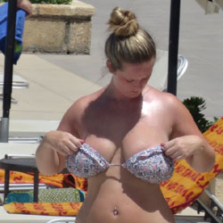 Curvy Blonde As Requested - Big Tits, Bikini Voyeur