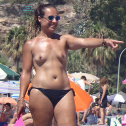Topless Brunette Enjoying The Beach - Brunette Hair, Exposed In Public, Hard Nipple, Nipples, Nude Beach, Nude In Nature, Nude In Public, Nude Outdoors, Showing Tits, Small Breasts, Small Tits, Topless Beach, Topless Girl, Topless Outdoors, Topless, Beach Tits, Beach Voyeur, Sexy Body, Sexy Figure, Sexy Girl, Sexy Legs, Sexy Woman