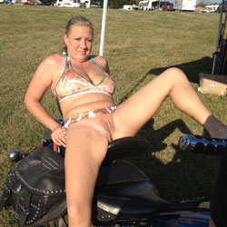 Hot Wife At Bike Rally - Flashing