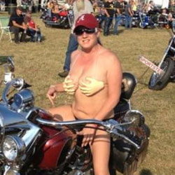 Bike Rally - Big Tits, Public Place