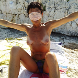 Elena Nude For You - Beach, Big Tits, Brunette, Wife/Wives