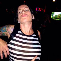 Flashing - Public Place, See Through, Tattoos