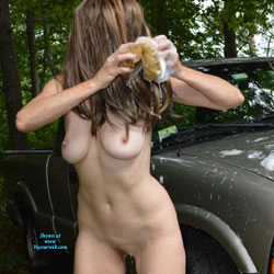 Sexy Car Wash Girl - Big Tits, Brunette Hair, Exposed In Public, Full Nude, Hanging Tits, Huge Tits, Large Breasts, Naked Outdoors, Shaved Pussy, Showing Tits, Wet, Hairless Pussy, Sexy Body, Sexy Boobs, Sexy Figure, Sexy Girl, Sexy Legs, Sexy Woman