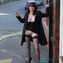 No Panties - Long Legs, Shaved, Public Place, Lingerie, High Heels Amateurs, Flashing, Public Exhibitionist, No Panties On