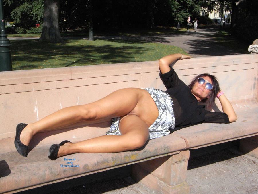 Panties in the park