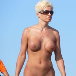 Blonde Girl Walking Naked - Big Tits, Blonde Hair, Exposed In Public, Firm Tits, Full Nude, Naked Outdoors, Nipples, Nude Beach, Nude In Public, Perfect Tits, Shaved Pussy, Short Hair, Showing Tits, Sunglasses, Beach Pussy, Beach Tits, Beach Voyeur, Hairless Pussy, Hot Girl, Naked Girl, Sexy Body, Sexy Boobs, Sexy Girl, Sexy Legs, Sexy Woman