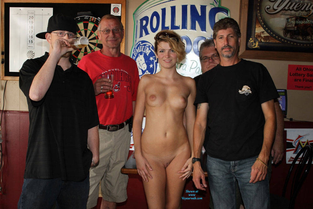 Naked female group public excellent message
