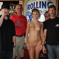 Monnie At The Local Tavern Part 2 - Big Tits, Public Exhibitionist, Public Place, Shaved