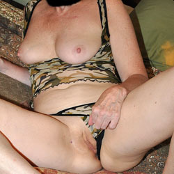Sara In Camo - Big Tits, Shaved