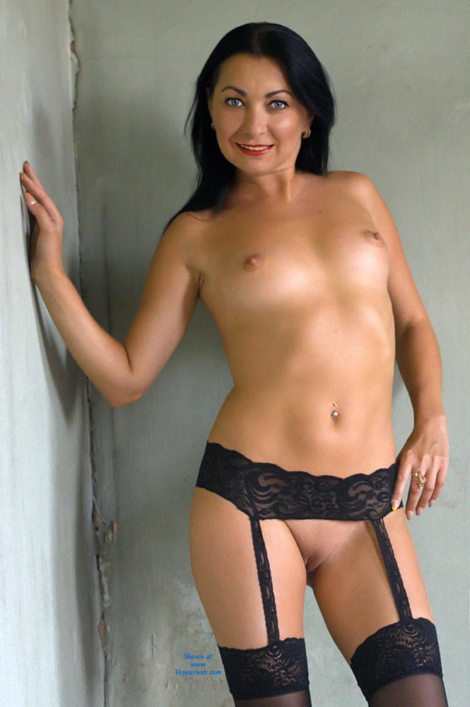 Brunette in lingerie pussy Naked Brunette In Black Lingerie August 2014 Voyeur Web Hall Of Fame