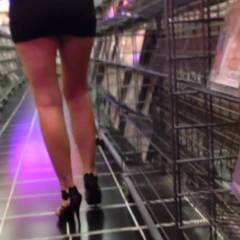 Mother Of Four Teasing Me At Adult Book Store - Public Place, High Heels Amateurs, Wife/Wives