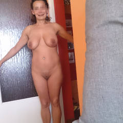 Very large tits of my wife - Andzia